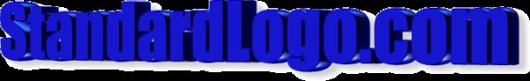 The StandardLogo.com logo, as created through the on-site free 3D Logo/Heading Design Tool.